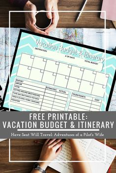 Are you frustrated with your trip planning? Get your vacation plans in order with this free printable that organizes both your itinerary AND your budget!