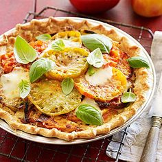 Heirloom Tomato Pie The Kosch family's produce-packed, home-cooked meals -- straight from their own backyard -- inspire these farm-to-table seasonal recipes.