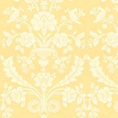 Mustard Damask Wallpaper Beautiful Wall Cottage Ideas Great Rooms Cape