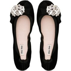 Soft suede ballerina with slip-last construction, grosgrain bow detail and crystal jewel ornament.
