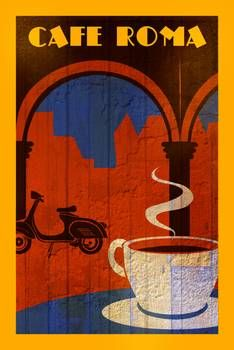 """""""Cafe Roma"""" Picture by Benjamin Bay posters, art prints, canvas prints, greeting cards or gallery prints. Find more Picture art prints and posters in the ARTFLAKES shop. Coffee Barista, Coffee Type, Coffee And Books, Coffee Art, Iced Coffee, Coffee Menu, Coffee Scrub, Coffee Cozy, Coffee Creamer"""
