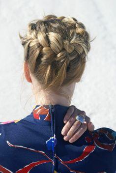 Lovely braided updo