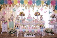 Esta festa delicadamente linda! Credito: @arcoirisfestaslondrina Foto: @h3filmes #Festainfantil #FestaUrsinhos #FestaUrsos #Ursos #Ursinhos #FestaMenina