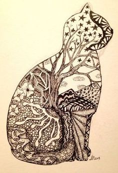 Zentangle cat- I really like the tree and the 'picture' feel for the whole thing. Inspiration - What more to say other than we just LOVE cool stuff!