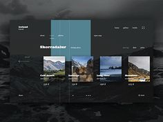 Iceland Travel - travel page animation ui ux concept website web behance gif Website Design Layout, Web Layout, Website Design Inspiration, Layout Design, Interaktives Design, Web Ui Design, Flat Design, Webdesign Layouts, Webdesign Inspiration