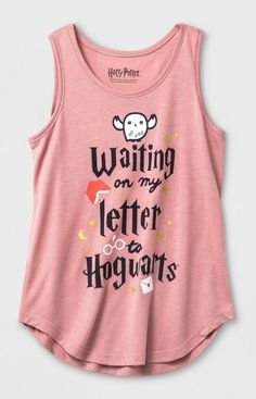 7deabe9d9cbca Girls  Harry Potter  Waiting On My Letter To Hogwarts  Tank Top - Light Red    Target