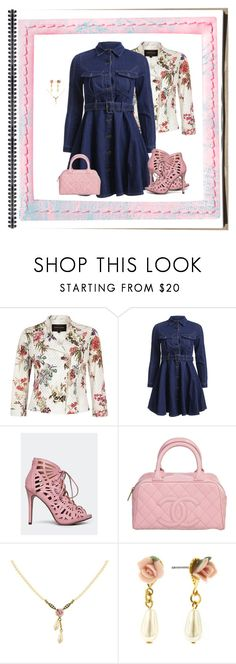 """""""Pink Porcelain Rose (1936)"""" by trufflelover ❤ liked on Polyvore featuring River Island, Chase & Chloe, Chanel and 1928"""