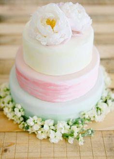 watercolor wedding cake - photo by Debbie Lourens Photography http://ruffledblog.com/nile-inspired-wedding-ideas