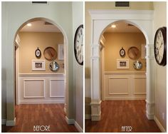 When we moved into our house 3 years ago I was completely underwhelmed by the lack & Rigid Arched Casing | Pinterest | Moldings Arch and Doors
