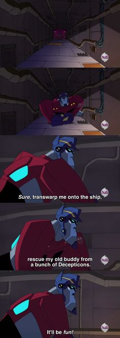 "Transformers Animated Optimus Prime dies hard (from ""Decepticon Air"")"