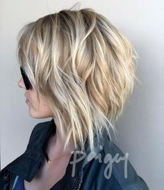 Prom Hairstyles Tousled Bob With Honey Blonde Balayage.Prom Hairstyles Tousled Bob With Honey Blonde Balayage Easy Hairstyles For Medium Hair, Medium Hair Cuts, Medium Hair Styles, Curly Hair Styles, Short Hairstyles For Women, Short Bob Styles, Pixie Styles, Bob Haircuts For Women, Short Bob Haircuts