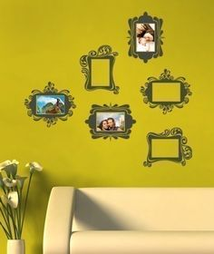 Vintage Photo Frames  Vinyl Wall Sticker by SimpleShapes on Etsy, $39.00