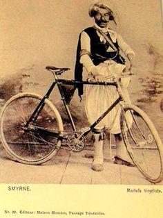 bicyclist Mustafa - bisikletçi Mustafa #oldtimes #birzamanlar #oldphotogpraphy #bisiklet #istanlook