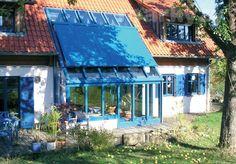 Venkovní markýza pro zimní zahradu, kde nelze použít standardní markýza [Maxilux] Pergola, Relax, Outdoor Decor, Home Decor, Rustic Homes, Atelier, Decoration Home, Room Decor, Outdoor Pergola
