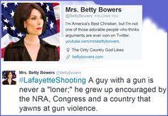Twitter: @BettyBowers -LOVE her!
