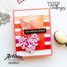 Valentine Love Cards, Valentines, Stampin Up, Mini Sales, Fun Challenges, Pretty Cards, Coordinating Colors, Small Flowers, Thank You Cards