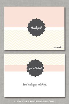 New free download from   Dear Miss Modern Say thank you with style! www.facebook.com/...