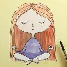 Wishing you a lovely day. ☀️ I am painting two of my yoga girls today that soon will be off to a new home. Some of you might recognise her.😀 #yoga #relax #draw #drawing #pen #penonpaper #instagood #instadaily #picoftheday #art #illustrationoftheday #illustrator #illustration #artist #artwork #konst #original #yellow #viktoriaastrom #watercolour #watercolor #happy
