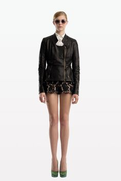 Peter Som Resort 2012 Collection Lace Overlay Shorts