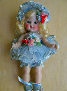 Vintage Vogue Strung PL Ginny Doll w/ Rare '51 Ballerina Complete  Silver Shoes