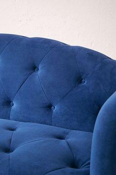 Sabina Velvet Tufted Sofa