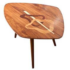 $1500 1stdibs - Swedish Mid-century occasional table with exotic wood marquetry. explore items from 1,700  global dealers at 1stdibs.com