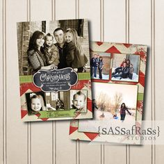 Christmas Card Template, PHOTOSHOP TEMPLATE: Gather--INSTANT Download, Photographer template, Commercial Use