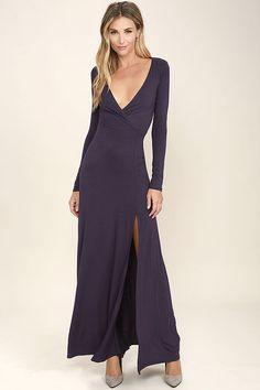 Wishing Well Purple Long Sleeve Maxi Dress 4c3ad2a9c