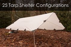 How to Make 25 Different Tarp Shelter Configurations #survival #preppers