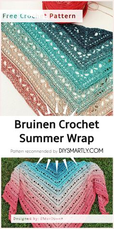 Bruinen Crochet Summer Wrap - Free Pattern #summeroutfit #fashion #style #freecrochetpatterns