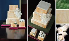 natural square cake inspired by VerTerra Dinnerware
