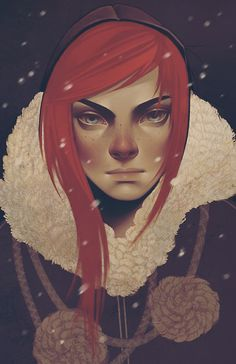 Ygritte of George R.R. Martin's series 'A Song of Ice and Fire'. Love the style of illustration here!