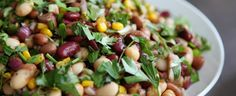 Tastee Recipe A Healthy Salad With Luscious Layers of Legumes - Variation of the Epicurious 5-Bean Salad Recipe
