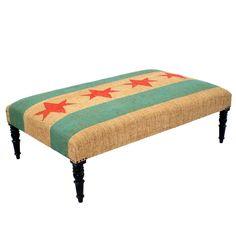 Chicago Flag Ottoman
