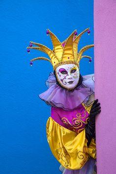 jester reveler - Carnival in Venice - (Jim Zuckerman Photography)