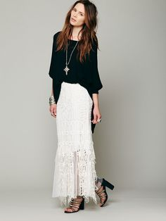 Free People Festival Battenburg Lace Skirt at Free People Clothing Boutique