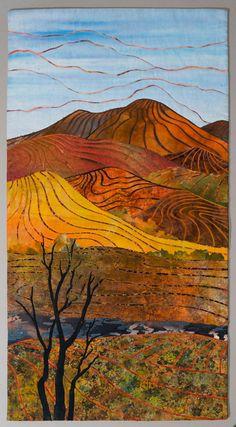 Applied Patchwork Quilting: A - Z: L = Landscapes / Paysages Patchwork Quilting, Applique Quilts, Art Quilting, Landscape Art Quilts, Abstract Landscape, Landscape Arquitecture, Quilt Art, Creation Deco, Art Textile