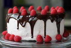 Chocolate Raspberry Truffle Layer Cake