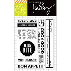 Hero Arts - Kelly Purkey Collection - Clear Acrylic Stamps - Food Coma