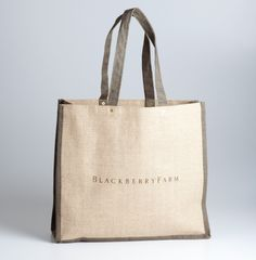 Blackberry Farm: Burlap Tote Bag