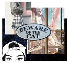 """beware of the cat"" by bi-lv on Polyvore featuring art"