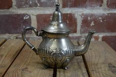 Vintage Silver Teapot Tea Kettle Snac Oran Ornate Filigree | Etsy Silver Teapot, Silver Plate, Gotham Silver, Vintage Silver, Kettle, Tea Pots, Filigree Design, Architectural Salvage, Building Materials
