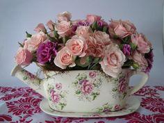 Arreglos florales con un toque vintage.