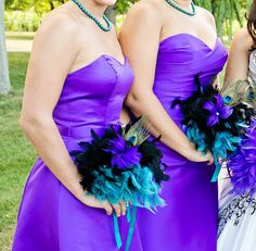 Peacock Feather Bouquet Bridal Bouquet Feather by DecoraMood, $45.00
