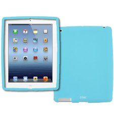 EMPIRE The New Apple iPad 3 Silicone Skin Case Cover (Light Blue)  $6.99