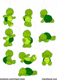 Arts And Crafts House Style Baby Sea Turtles, Cute Turtles, Turtle Birthday, Turtle Party, Baby Cartoon, Cute Cartoon, Turtle Crafts, Tortoise Turtle, Turtle Love