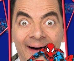Ejemplo: Marco de fotos infantil de Spiderman con rojos y azules en una…