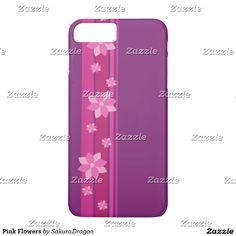 Pink Flowers iPhone 7 Plus Case #flower #sakura #cherryblossoms #pink #purple