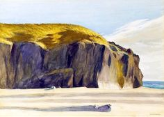 View Oregon coast by Edward Hopper on artnet. Browse upcoming and past auction lots by Edward Hopper. Watercolor Landscape, Landscape Art, Landscape Paintings, Sea Paintings, Watercolor Ocean, Watercolour Painting, American Realism, American Artists, Manet