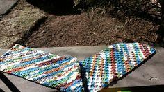 C2C scarf, made with RHSS Peruvian Print